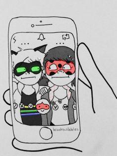 That awkward moment when snap chat revealed your identity. Comics Ladybug, Ladybug Art, Miraculous Ladybug, Steven Universe, Marinette And Adrien, Animation, Kawaii, Bugaboo, Kids Shows