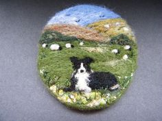 Handmade needle felted brooch/Gift Good Girl, Gwen by Tracey Dunn