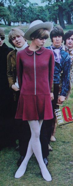 Mary Quant fashion with The Yardbirds in the background