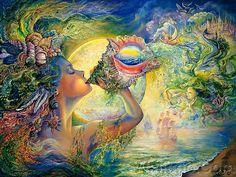 Celestial Journey - Fantasy World of Josephine Wall (Vol.01) - Josephine Wall  Fantasy Art Wallpaper  :  Call of the Sea   4