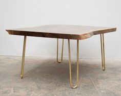 Brass Hairpin Legs from Reform Brass for custom/diy tables