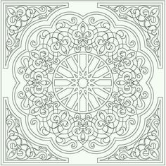 Embroidery Patterns Mandala Dover Publications 39 Ideas For 2019 Mandalas Drawing, Mandala Coloring Pages, Coloring Book Pages, Printable Coloring Pages, Coloring Sheets, Zentangles, Arabic Pattern, Pattern Art, Dover Publications