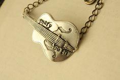 Silver Personalized Guitar BRACELET