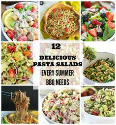 12 Delicious Pasta Salads every summer BBQ Needs - the best and tastiest side dishes perfect for the next picnic or potluck.