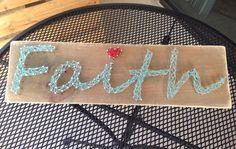 Faith String Art Rustic Wood Hanging (wall decor, DIY craft)
