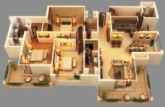 Ace Golfshire is believed as one of the best options of buying property in Noida Expressway. The group offers amazingly crafted BHK luxurious apartments in sector 150 Noida. Modern House Floor Plans, House Plans Mansion, Model House Plan, Sims House Plans, House Layout Plans, Dream House Plans, House Layouts, Small House Plans, Tiny House Layout