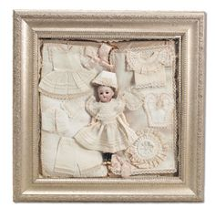 """Used to design antique doll clothes and accessories antique french doll with trousseau - 8"""""""