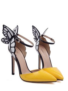 Women pumps mini color matching butterfly point toe shoes YS-C4264