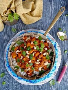 Lempeän tulinen kasviscurry Chana Masala, Salsa, Curry, Vegetarian, Vegetables, Ethnic Recipes, Food, Salsa Music, Curries