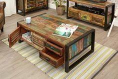 Baumhaus URBAN CHIC 4 Door 4 Drawer Large Coffee Table