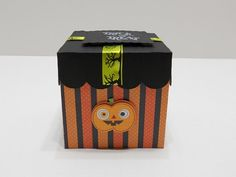 Halloween cupcake box cupcake box Halloween Gift box by Favors4Fun, $3.50