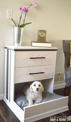IKEA Hack, Rast Dresser Into Dog Bed