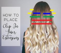 how to place clip in hair extensions
