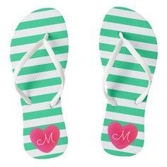 #ad Soft Heart, Chart Design, Monogram Initials, Sea Foam, Green Stripes, Cute Designs, Flipping, Bright Pink