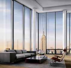 """One Madison Park (OMP) condo tower (NYC) by Cetra/Ruddy. Ph. Cetra/Ruddy. Residential cantilevered """"pods"""" with 270 degree views of the city and the Madison Square Park. OMP features open, loft-like layouts with floor-to-ceiling glass.  Sourced from cetraruddy.com."""