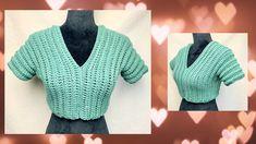 Free Pattern, Top Pattern, Crochet Videos, Crochet Top, Youtube, Sweaters, Ideas, Awesome, Women
