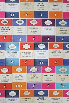 Penguin Library Books Wallpaper - Wallpaper Ideas & Designs (houseandgarden.co.uk)