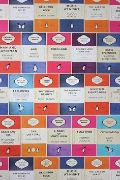 Penguin Library Books Wallpaper - Wallpaper Ideas & Designs (houseandgarden.co.uk)