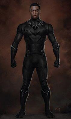 Captain America Civil War Concept Art Black Panther Full Body Front Captain America: Civil War: New Black Panther Concept Art