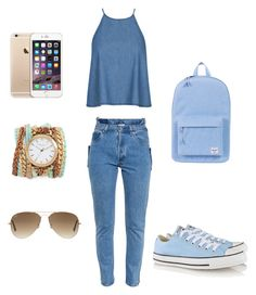 """Untitled #96"" by alexandragabriela2 on Polyvore featuring Vetements, Converse, Herschel Supply Co., Sara Designs and Ray-Ban"