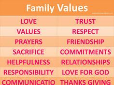 Image result for family values quotes