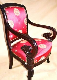 Biedermeier mahogany armchair 1840r