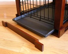 removable pieces for dog crate end table