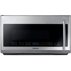 Samsung 30 in. 2.1 cu. ft. Over the Range Microwave in Stainless Steel with Sensor Cooking and LED Cooktop Lighting-ME21F707MJT - The Home Depot $397.80