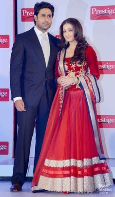 Aishwarya Rai Bachchan in Jade.. need a replica? visit www.zifaaf.com or write to us at zifaafstudiogmail.com.. Floor-length red anarkali for reception