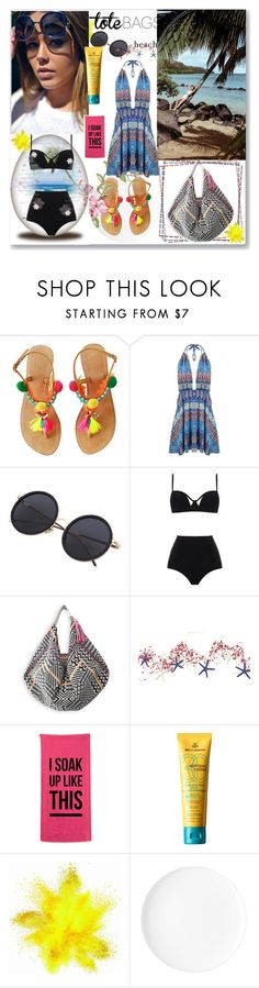 """""""Beach"""" by maidaa12 ❤ liked on Polyvore featuring MOEVA and MDSolarSciences"""