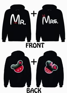 Mr. and Mrs. He's Mine Mickey 2 Hoodie Sweatshirt for couple LOVE VALENTINE GIFT. $79.99, via Etsy.