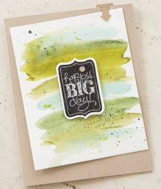 So Shelli - So Shelli Blog, watercolor and Chalk Talk on this card!