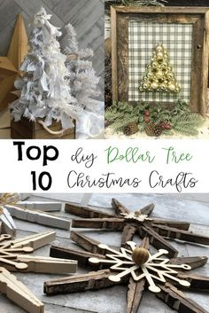 Top 10 Dollar Tree Christmas Projects Dollar Tree Christmas, Little Christmas Trees, Dollar Tree Crafts, Christmas Projects, Christmas Diy, Christmas Crafts, Christmas Things, Homemade Christmas, Holiday Ornaments