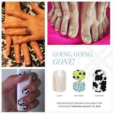 Jamberry Nail Wraps:  Jamberry is discontinuing many of it's wraps at the end of August 2014.  Don't miss out!  Nab yours today before they are gone!  http://www.lizstandley.jamberrynails.net