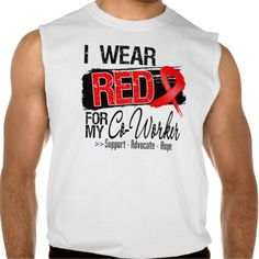 Red Ribbon Awareness - Co-Worker Sleeveless T-shirt Tank Tops