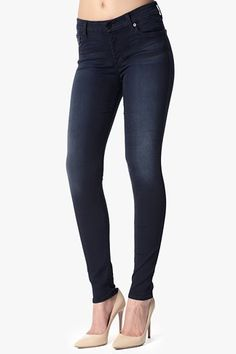 The Second Skin Slim Illusion Skinny in Washed Dark #7FAM