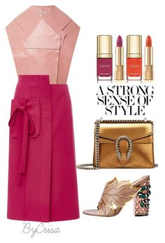 """""""Untitled #730"""" by crisa-gloria-eduardo ❤ liked on Polyvore featuring Gucci, Delpozo, Monique Lhuillier and Dolce&Gabbana"""