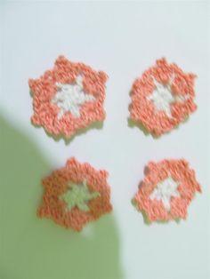 Handmade crochet motif 39mm (4 pcs) Craft supplies Jewelry materials