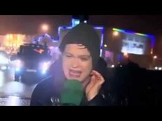 Reporter Nailed By Stop Sign On Live TV
