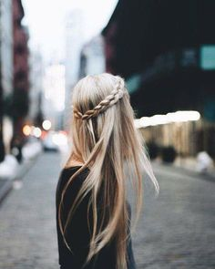 Long hair braid hair style