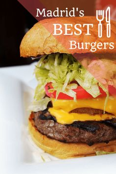 Best Burger In Madrid Spain - Most Delicious Burger In The World Unique Recipes, Ethnic Recipes, Delicious Burgers, Delicious Recipes, Madrid Travel, Gourmet Burgers, Good Burger, Dog Recipes, Spanish Food