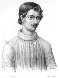 Giordano Bruno (d. 1600) My favorite heretic!  A Dominican priest, mathematician, astronomer and philosopher.  After 7 years of torture, interrogation and imprisonment he was burned at the stake; on orders from the Roman Inquisition; for his vision of an infinite universe filled with life.