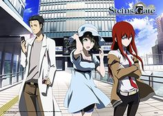 Official License Steins; Gate - Mayuri, Kurisu, Okabe Clear PVC Poster A3 Size