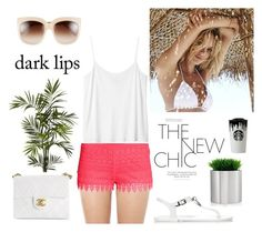 """""""pink shorts"""" by pimargarida ❤ liked on Polyvore featuring H&M, Monki, Magdalena, Hunter, blomus, Nearly Natural, Chanel, STELLA McCARTNEY, Band of Outsiders and women's clothing"""