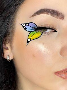 Edgy Makeup, Makeup Eye Looks, Eye Makeup Art, Crazy Makeup, Skin Makeup, Eyeshadow Makeup, Butterfly Makeup, Eye Makeup Designs, Makeup Makeover