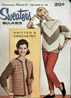 Star 166 Vintage 196-'s Sweaters Bulkies KNit Crochet