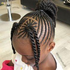 Little Girl Braid Hairstyles, Toddler Braided Hairstyles, Black Kids Hairstyles, Little Girl Braids, Baby Girl Hairstyles, Natural Hairstyles For Kids, African Braids Hairstyles, Natural Hair Styles, Fashion Hairstyles