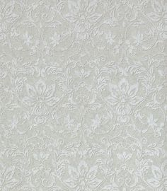Enriched with sensuous textures and refined colors, the floral pattern in Kalynn #wallpaper is regal and inviting.The soft, raised print is highlighted by pearlized flourishes that create depth and movement. Featured here in # metallic #silver on #grey from the Neutral Resource collection. #Thibaut