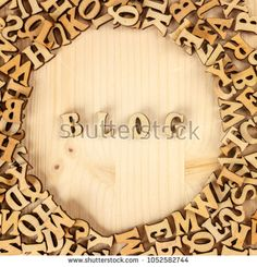 Wooden letters, blog creation, the English alphabet. Screensaver on your favorite blog.