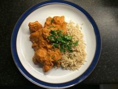 Lorraine Pascale's chicken tikka masala, easy recipe and fresh ingredients, yum! I'll use yellow rice with green peas